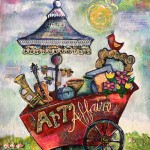 Winning Art Affaire Poster image using mixed media composition by June Pfaff Daley
