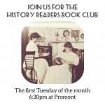 History Readers Book Club - Tuesdays at 6:30pm at Promont